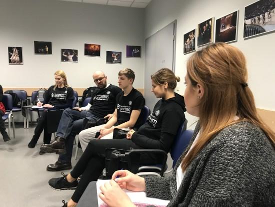 """""""One Team"""" projekto dalyviai aptarė patyčių temą"""
